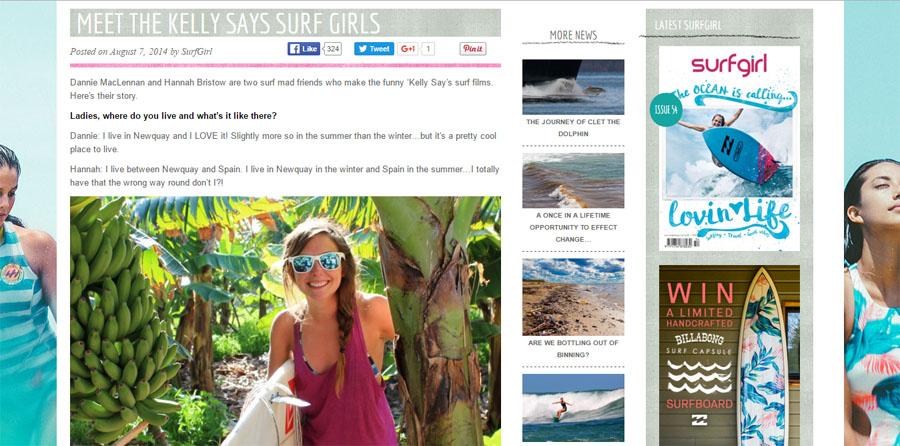 Meet the Kelly Says Surf Girls - Hannah Bristow and Dannie MacLennan