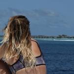 Sara Tay in the Maldives