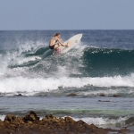 Hannah Surfing South Male Atolls